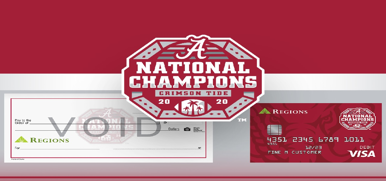 Regions Bank introduces exclusive debit cards for Alabama football fans
